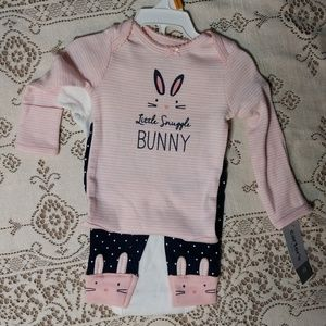 Carter's 3-Piece Set Newborn Little Snuggle Bunny